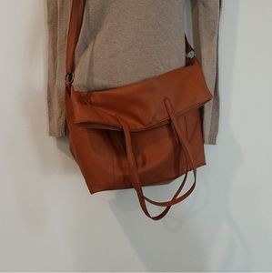 Maurice's brown tassel crossbody satchel leather